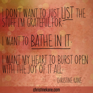 Bathe In Gratitude
