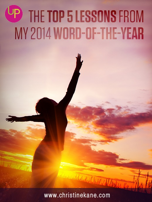 Reflect on how your Word of the Year taught you throughout the year, and apply those lessons to expand your business in 2015.