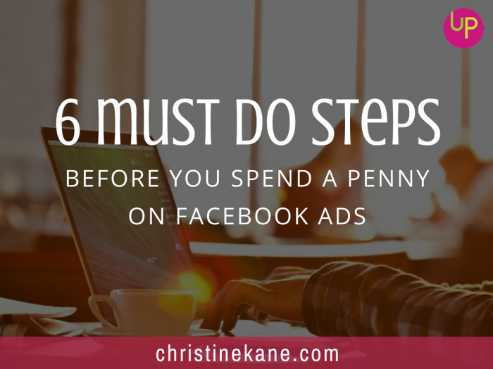 6 Must Do Steps Before You Spend a Penny on Facebook Ads
