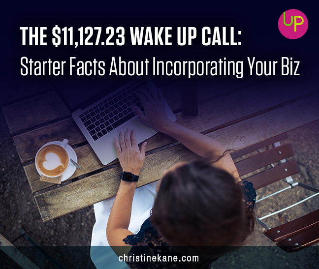 The $11,127.23 Wake up Call: Starter Facts about Incorporating Your Biz