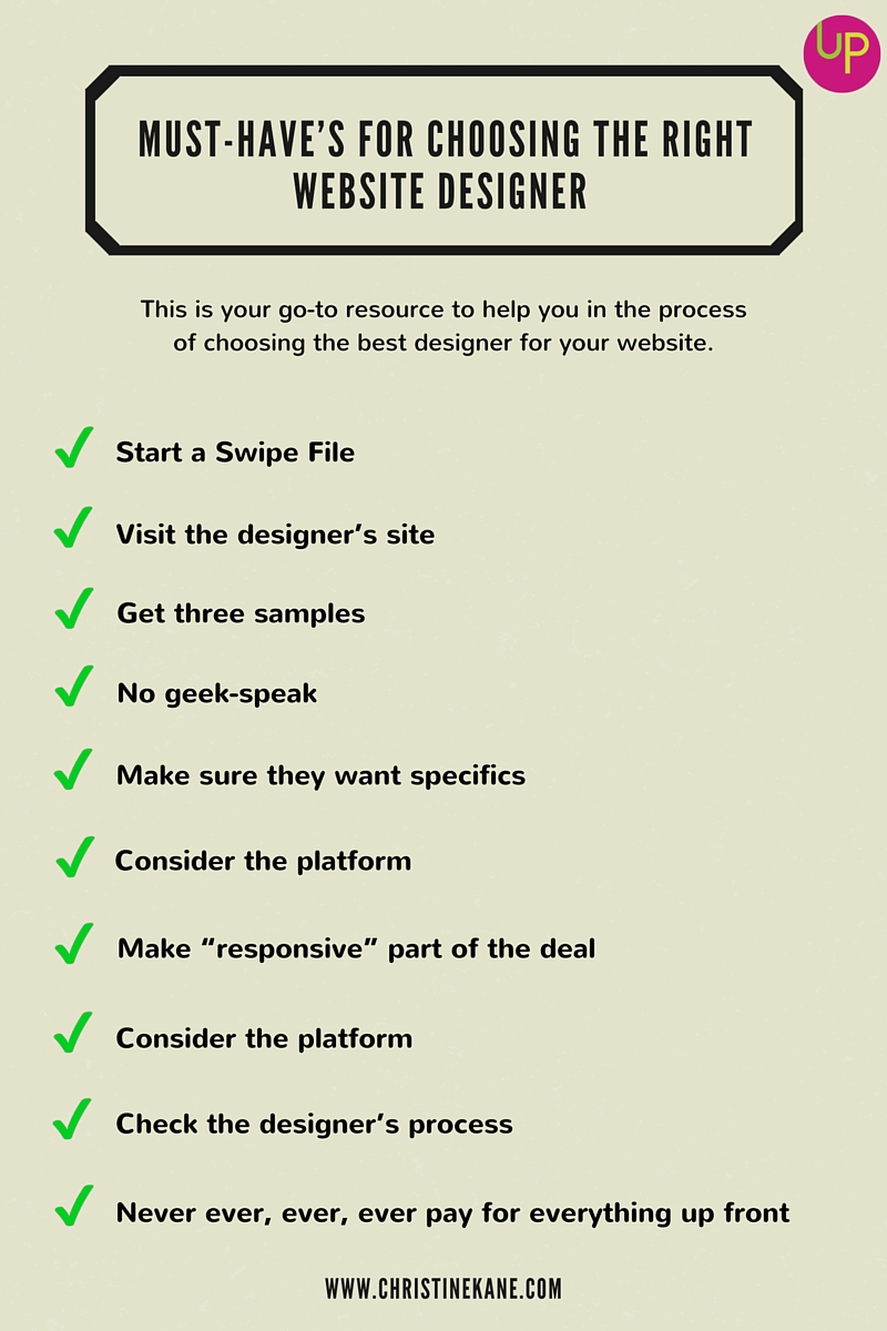 [CHECKLIST] Must-Have's for Choosing the Right Website Designer