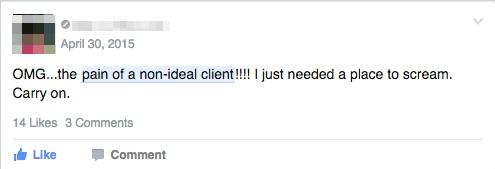 It simply sucks when a client is not a good match.
