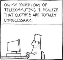 Dilbert - Clothing optional