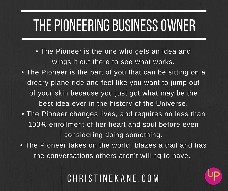 pioneering business owner