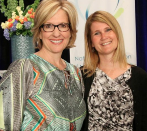 Sue and Brene Brown at NANT's annual conference